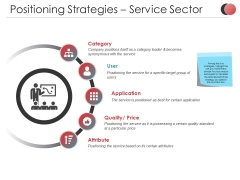 Positioning Strategies Service Sector Ppt PowerPoint Presentation Infographics Show