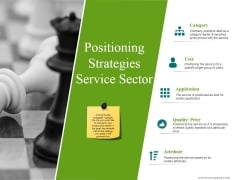 Positioning Strategies Service Sector Ppt PowerPoint Presentation Model Slideshow