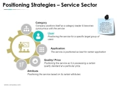 Positioning Strategies Service Sector Ppt PowerPoint Presentation Sample