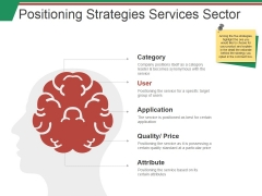 Positioning Strategies Services Sector Ppt PowerPoint Presentation Inspiration Slide