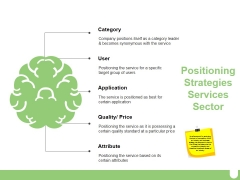 Positioning Strategies Services Sector Ppt PowerPoint Presentation Slides Clipart