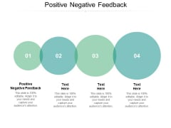 Positive Negative Feedback Ppt PowerPoint Presentation Inspiration Infographic Template Cpb