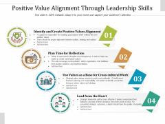 Positive Value Alignment Through Leadership Skills Ppt PowerPoint Presentation File Format PDF