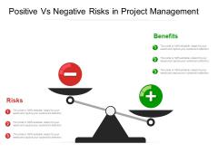 Positive Vs Negative Risks In Project Management Ppt PowerPoint Presentation File Visuals PDF