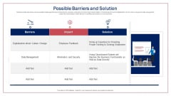 Possible Barriers And Solution Infographics PDF