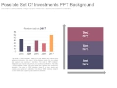 Possible Set Of Investments Ppt Background