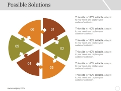 Possible Solutions Template 2 Ppt PowerPoint Presentation Portfolio Format