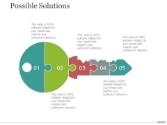 Possible Solutions Template 2 Ppt PowerPoint Presentation Summary Images