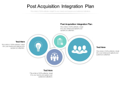 Post Acquisition Integration Plan Ppt PowerPoint Presentation Inspiration Design Templates Cpb