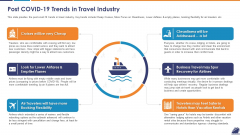 Post COVID 19 Trends In Travel Industry Template PDF