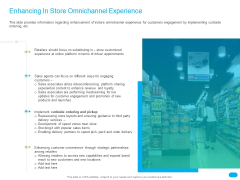 Post COVID Recovery Strategy For Retail Industry Enhancing In Store Omnichannel Experience Themes PDF