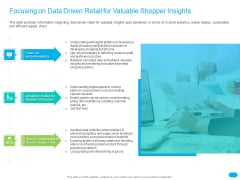 Post COVID Recovery Strategy For Retail Industry Focusing On Data Driven Retail For Valuable Shopper Insights Topics PDF