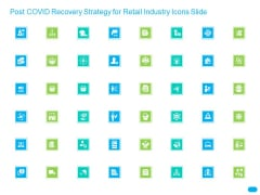 Post COVID Recovery Strategy For Retail Industry Icons Slide Icons PDF