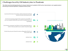 Post COVID Recovery Strategy Oil Gas Industry Challenges Faced By Oil Industry Due To Pandemic Rules PDF