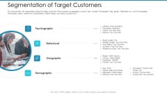 Post Initial Pubic Offering Market Pitch Deck Segmentation Of Target Customers Template PDF