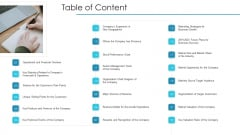 Post Initial Pubic Offering Market Pitch Deck Table Of Content Rules PDF