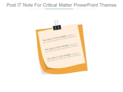Post It Note For Critical Matter Powerpoint Themes