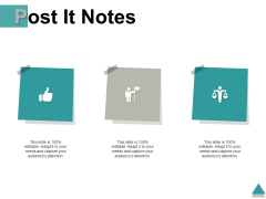 Post It Notes Compare Management Ppt PowerPoint Presentation Styles Show
