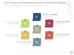 Post It Notes For Brainstorming Session Ppt PowerPoint Presentation Show