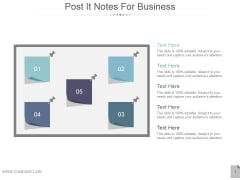 Post It Notes For Business Ppt PowerPoint Presentation Template