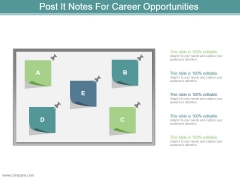 Post It Notes For Career Opportunities Powerpoint Slide Inspiration