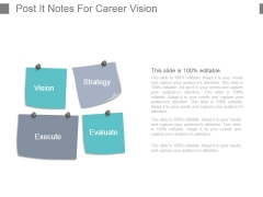 Post It Notes For Career Vision Powerpoint Slide Designs Download