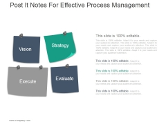 Post It Notes For Effective Process Management Ppt PowerPoint Presentation Designs Download