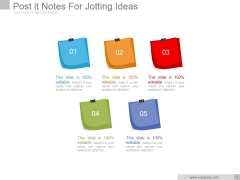 Post It Notes For Jotting Ideas Ppt PowerPoint Presentation Sample