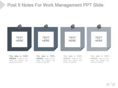 Post It Notes For Work Management Ppt PowerPoint Presentation Themes