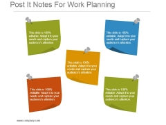Post It Notes For Work Planning Powerpoint Slide Background