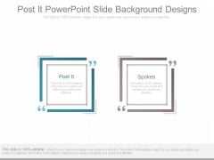 Post It Powerpoint Slide Background Designs