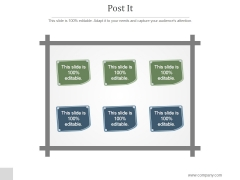 Post It Ppt PowerPoint Presentation Icon