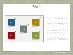 Post It Ppt PowerPoint Presentation Model Template