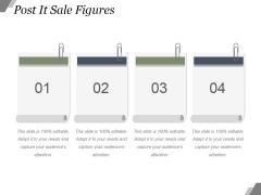 Post It Sale Figures Ppt PowerPoint Presentation Templates