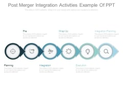 Post Merger Integration Activities Example Of Ppt