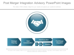 Post Merger Integration Advisory Powerpoint Images