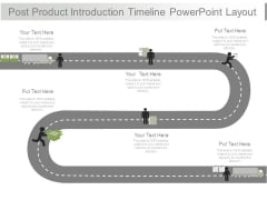 Post Product Introduction Timeline Powerpoint Layout