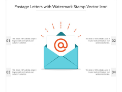 Postage Letters With Watermark Stamp Vector Icon Ppt PowerPoint Presentation Show Icon PDF