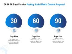 Posting Social Media Content 30 60 90 Days Plan For Posting Social Media Content Proposal Rules PDF