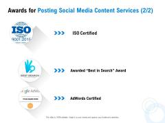 Posting Social Media Content Awards For Posting Social Media Content Services Certified Professional PDF