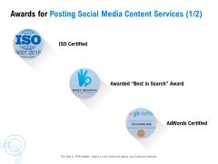 Posting Social Media Content Awards For Posting Social Media Content Services Search  Graphics PDF