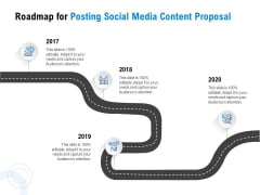 Posting Social Media Content Roadmap For Posting Social Media Content Proposal Slides PDF