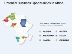 Potential Business Opportunities In Africa Ppt PowerPoint Presentation Model Images