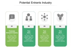 Potential Entrants Industry Ppt PowerPoint Presentation Styles Visual Aids Cpb