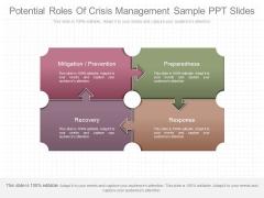 Potential Roles Of Crisis Management Sample Ppt Slides