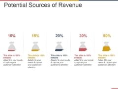 Potential Sources Of Revenue Ppt PowerPoint Presentation Outline Display