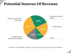 Potential Sources Of Revenue Ppt PowerPoint Presentation Portfolio Designs
