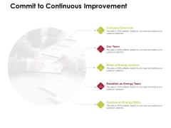 Power Management System And Technology Commit To Continuous Improvement Slides PDF