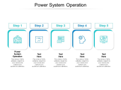 Power System Operation Ppt PowerPoint Presentation Styles Design Templates Cpb