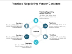 Practices Negotiating Vendor Contracts Ppt PowerPoint Presentation Infographic Template Graphics Example Cpb Pdf